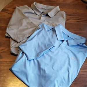 Set of Two Nike Tiger Woods Collection Polos